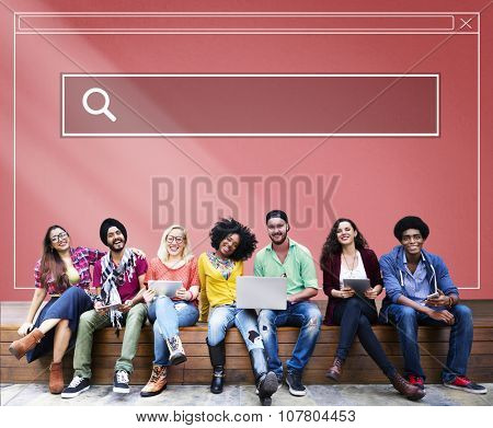 Searching Internet Online Interface Webpage Concept