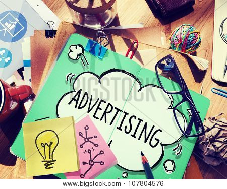 Advertising Commercial Marketing Strategy Promotion Concept