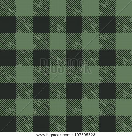 Seamless texture of green plaid