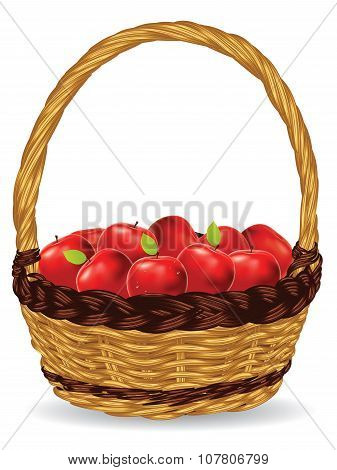 Basket Of Red Apples
