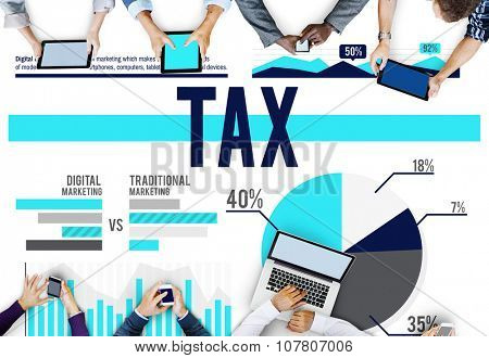 Tax Taxation Economy Financial Accounting Concept