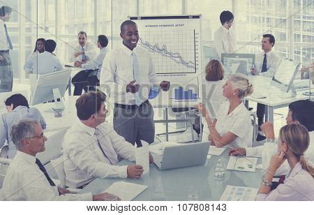 Group of Business People Meeting Concept