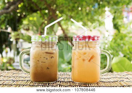 Ice Tea And Coffee Thai Style