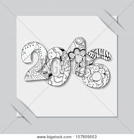 Stock Vector Paper Cut With New Year Pattern.black And White Winter Background.