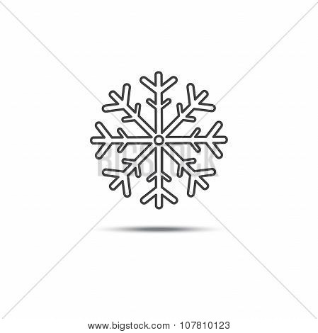 Snowflake Vector Icons On Isolated Background
