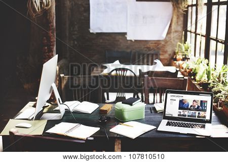 Home Office Design Workspace Room Concept