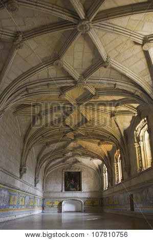 Room Interiors Of Jeronimos Monastery In Lisbon