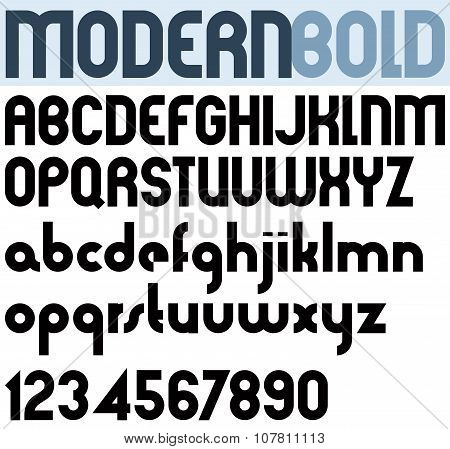 Poster Modern Bold Black Font And Numbers.