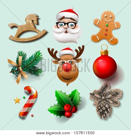 Christmas icons, objects