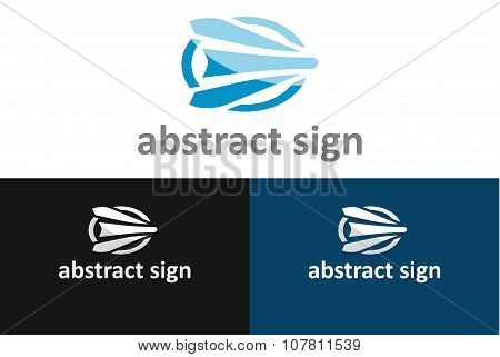 Template With Abstract Sign