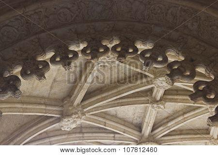 Vaulted Ceiling Of Jeronimos Monastery