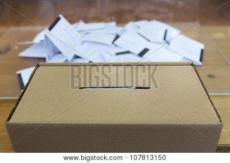 Ballot Paper Voting Box