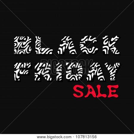 Black Friday. Sale tag