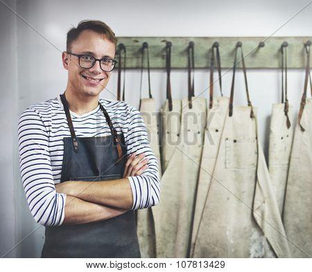 Man Occupation Craftsman Professional Interest Cocnept
