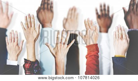 Hands Together Join Partnership Unity Variation Team Concept
