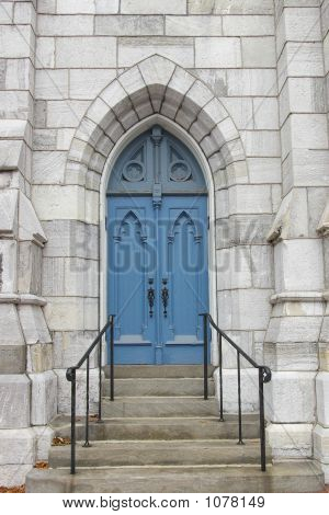 Blue Church Door
