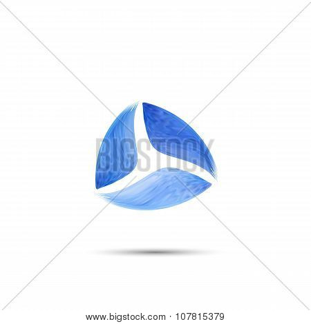 Abstract Logo template Three elements