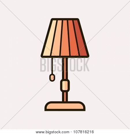 Light fixture icon. Vector illustration of lamp