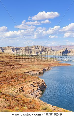 Powell Lake In Glen Canyon National Recreation Area, Usa.