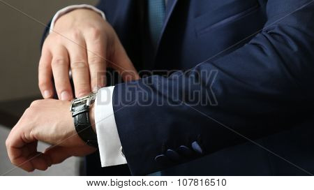 Hands Of Wedding Groom