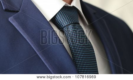 Jacket Men's Shirt With A Blue Tie