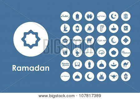 Set of ramadan simple icons