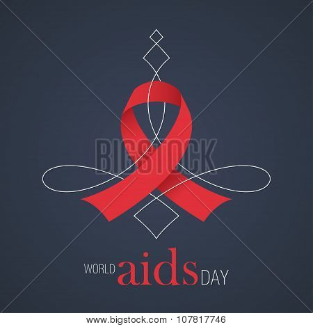 Illustration Aids Red Ribbon and text