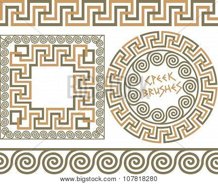 Set 3 Brushes Greek Meander patterns