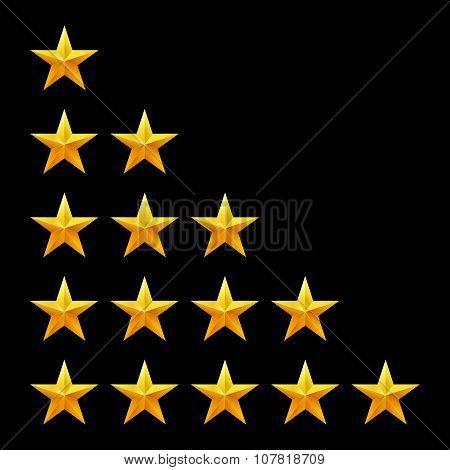 Rating stars set. Web or mobile User feedback concept.