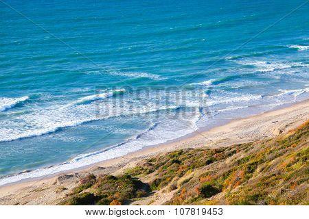 Waves Near Beach On Atlantic Ocean Coast