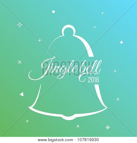 Illustration Jingle Bell With Style text.