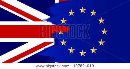 Union Jack And Eu Blend