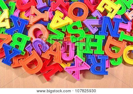 Colored Plastic Alphabet Letters