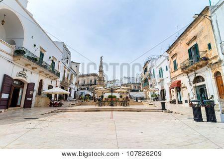 Old Town In Ostuni, Italy