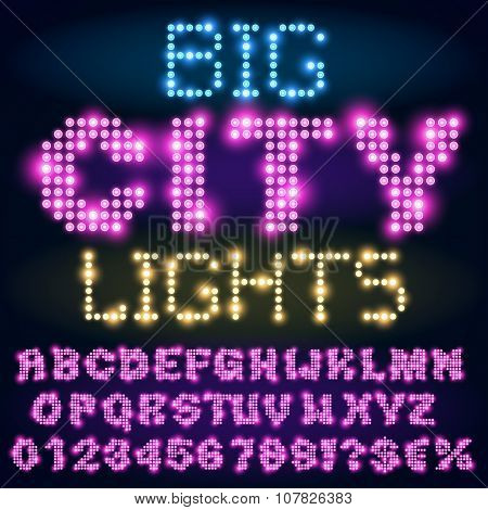 Night lights  font