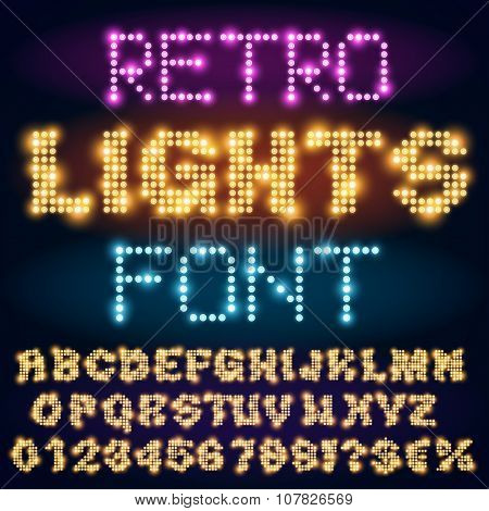 Light font set