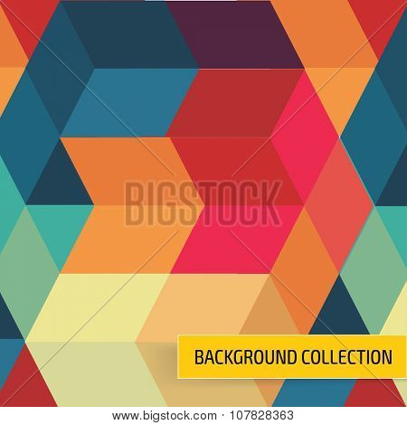 Elegant colorful background template design. Cover layout.