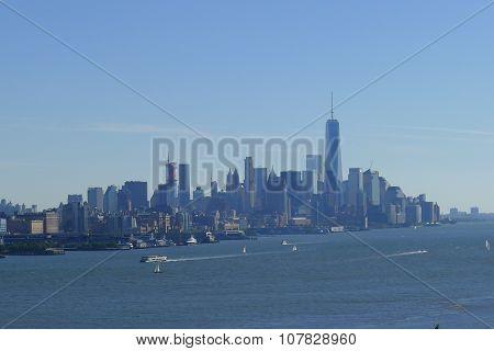 Hudson River and Manhattan Skyline