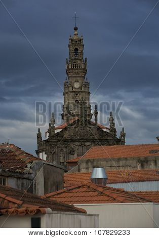 Clerigos tower can be seen from various points in Porto, Portugal and is one of the most characteristic symbols.