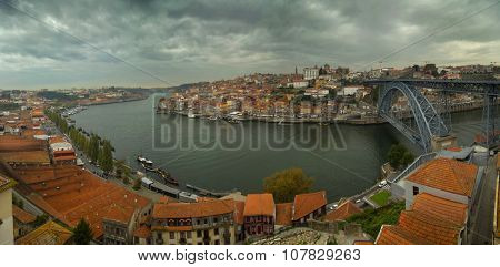 View of city of Porto and Douro river in Portugal