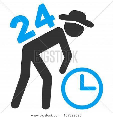 Around The Clock Work Icon