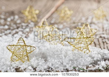 Christmas Stars In The Snow
