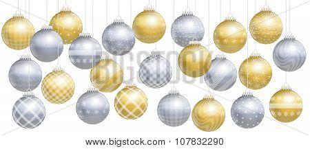 Christmas Balls Gold Silver Assortment