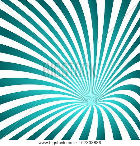 Cyan striped funnel design background