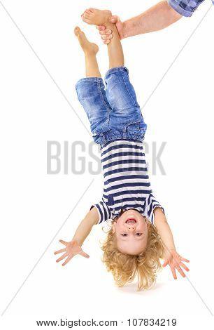 Little Boy Upside Down