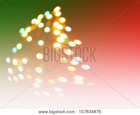 Christmas Tree-shaped Sparklers Background