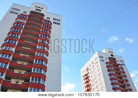 Modern high-rise apartment building