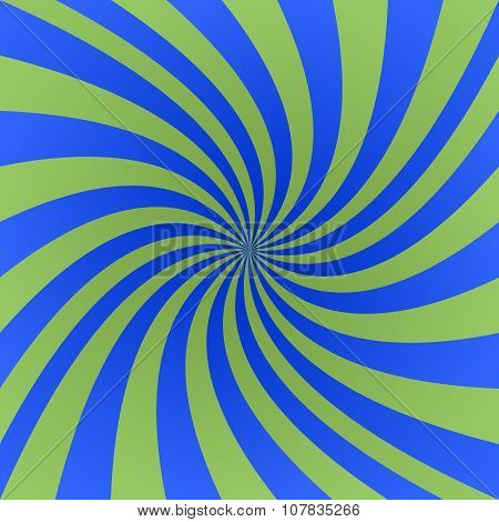 Green and blue spiral design background