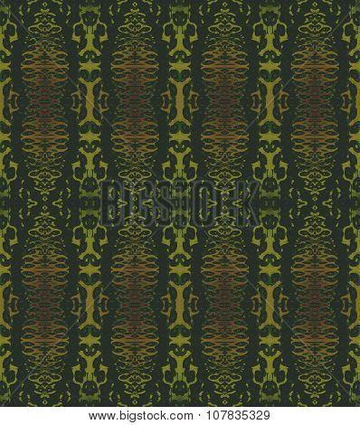 Seamless ellipses pattern green brown