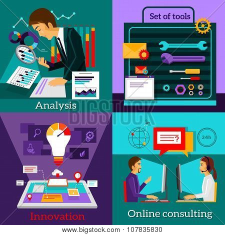 Analysis Innovation. Online Consulting. Set Tools